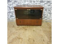 Glass Front TV Cabinet