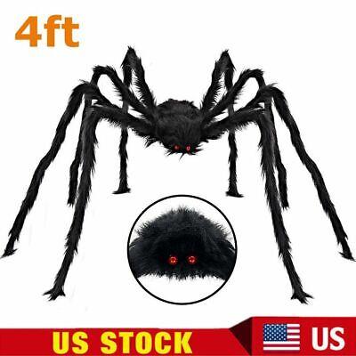 Halloween Spider Prop (4FT GIANT SPIDER HALLOWEEN DECOR Outdoor Yard Garden Haunted House Scary)