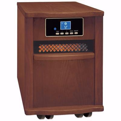 Comfort Zone CZ2062W Premium Infrared Heater Wood Cabinet Wa