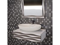 Exclusive bath console, cupboard-to-bathroom