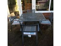 Garden furniture set table and 4 chairs