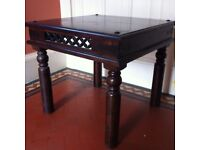 Solid Oriental Wood Lamp or Coffee Table / Can Deliver