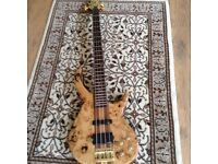 Vintage spalted Maple bass guitar 1004a
