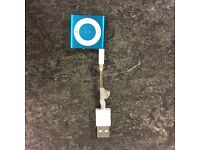 Apple iPod Shuffle A1373 Blue Not boxed comes with usb cable