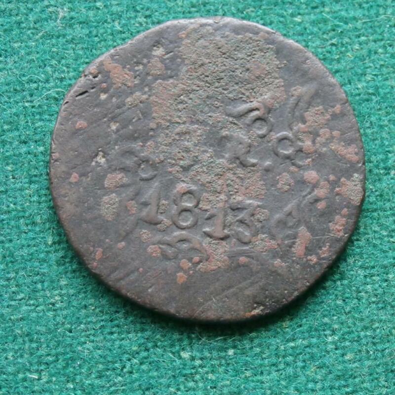1813  MEXICO COPPER  8 Reales SUD OAXACA