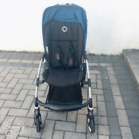 Bugaboo stroller and foot muff £250