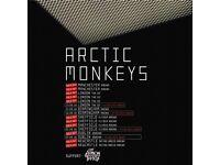 2x Arctic Monkeys standing tickets, Fly DSA Arena Sheffield, Saturday 22nd September 2018