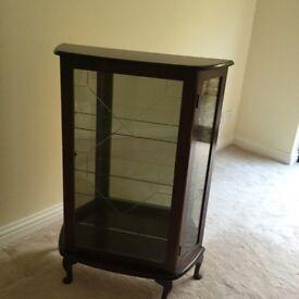Mahogonay and Glass Display Cabinet