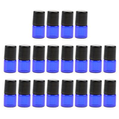 20pcs Ätherische Öl Roller Flaschen 1ml 2ml 3ml mit Edelstahl Roller ()