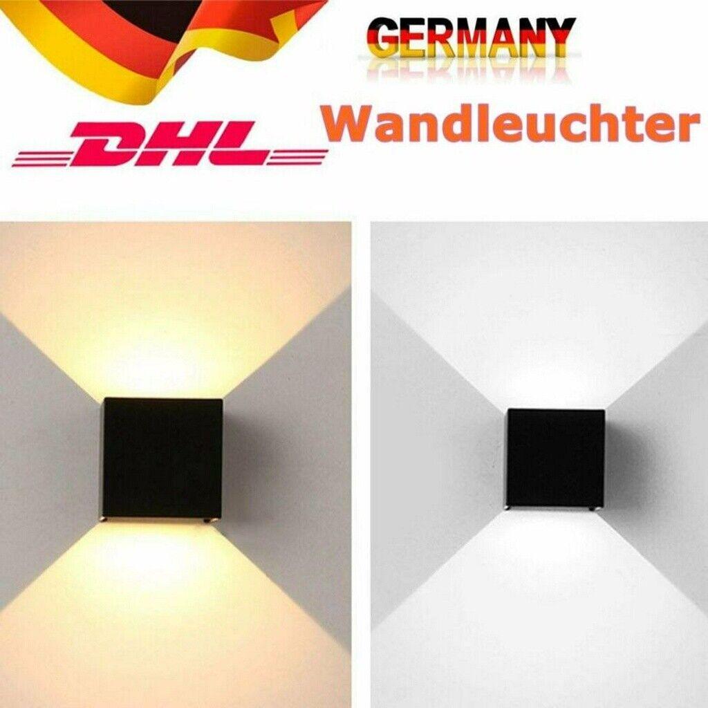 2x 6W LED Wandleuchte Innen Wandspot Fassadenlampe Strahler UP-Down Leuchte DHL