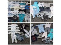 Very big bundle of boys clothes 0-3 months