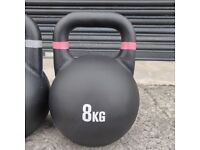 Cast Iron 8kg Kettlebells. UK, NI & ROI