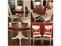 LOVELY NEWLY REFURBISHED DINING TABLE AND CHAIRS