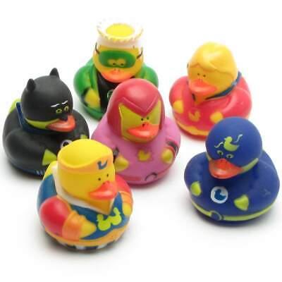n - 6er Set Quietscheente Quietscheentchen Gummiente Enten (Ente Superhelden)