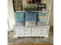 Shabby chic tv unit, window seat.storage cupboard