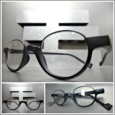 Mens 50s Style (Mens Vintage 50's Retro Style READING EYE GLASSES READERS Oval Matte Black)