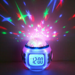 Kids Alarm Clock Sleep Clock Sky Star Projection Led Clock For Boys Girls Child