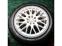 """15"""" Calibre alloy wheels with tyres"""