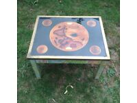Coffee table small attractive solid