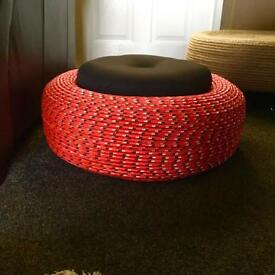 Recycled storage ottoman
