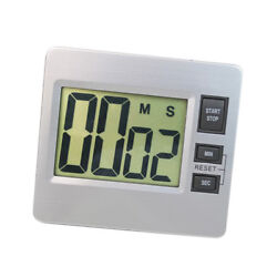 Digital Wall Clock Alarm Second Minutes Countdown LCD Large Desk Watch Timer