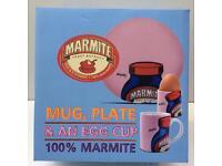NEW MARMITE MUG PLATE & EGG CUP BOXED SET x1