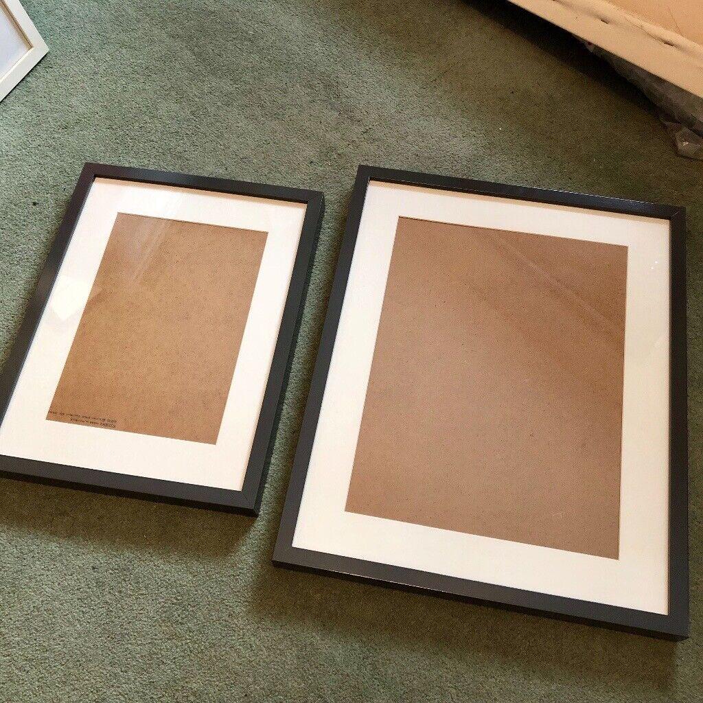 2x IKEA RIBBA Frames - High Gloss Grey - 30x40 and 40x50 cm | in Splott,  Cardiff | Gumtree