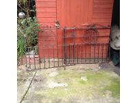 A pair of wrought iron gates. For Sale