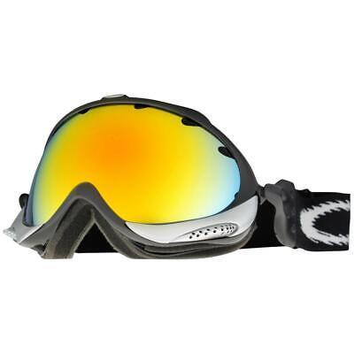 Oakley 02-752 Wisdom Jet Black Frame Fire Iridium Lens Mens Snow Ski Goggles .
