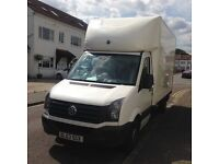 Man And A Van Hire Service, VW LUTON CRAFTER 2014 with a Tail Lift. Services to UK and Europe 24/7