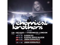 One Chemical Brothers Ticket - Blackpool Fri 9th Dec 2016
