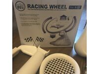 Wii Console Bundle + BRAND NEW RACING WHEEL!!! Wii Fit Board, Games & Accessories