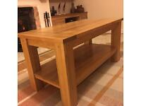 Oak coffee table and a side table