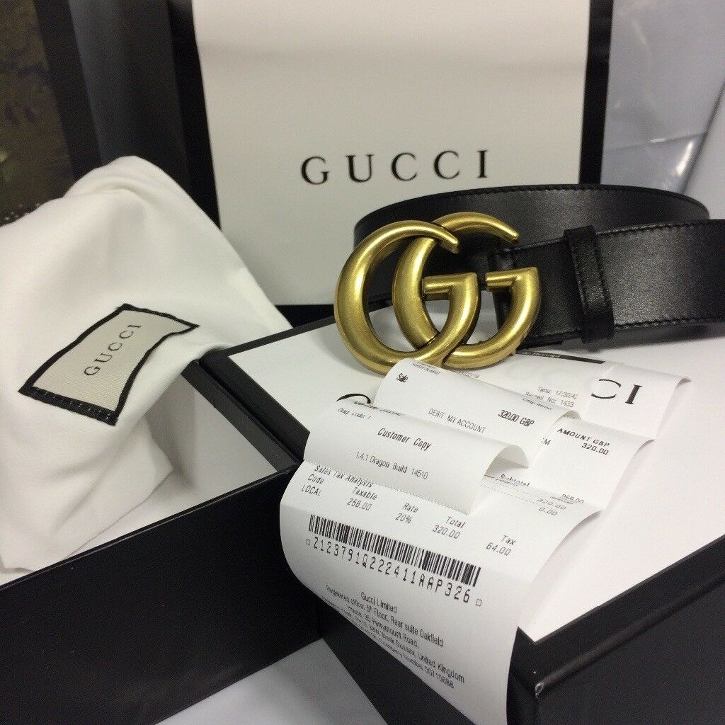 3ed38294486 GUCCI MARMONT GG women s belt boxed with receipt gift bag dust bag ribbon