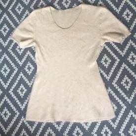 Size 12-14 vintage angora tshirt top