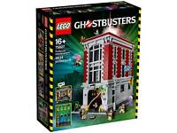 Lego ghostbusters firehouse and ecto 1