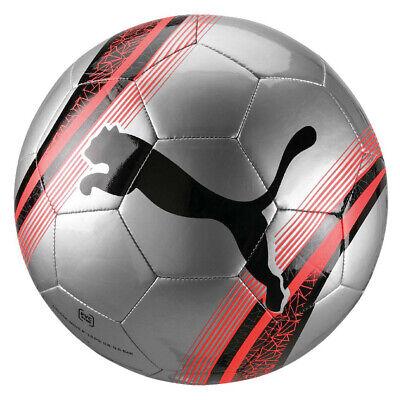 Puma Big Cat 3 Football Training Match Soccer Ball Silver/Black/Red