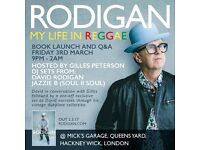 2x tickets for David Rodian book launch and Q&A - hosted by Giles Peterson - DJ set from Jazzie B