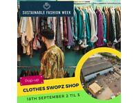 Pop-up Clothes Swopz Shop