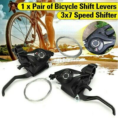1 Paar Mountainbike Gangschaltung 21-speed Schalthebel Fahrrad Speed Control Set