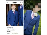 OLDER BOYS SLATERS THREE PIECE SUIT WORN ONCE