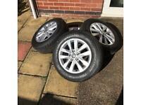 "Vw T5 T6 Transporter 16"" Clayton Alloy Wheels with Bridgestone Tyres 205/65/r16c NEW!"