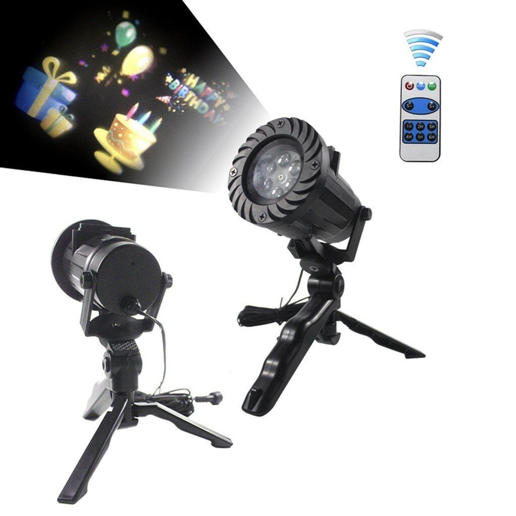 Small LED Projector Light with 15 Replaceable Patterns,