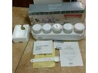 Salton yoghurt maker new with box 5 cups