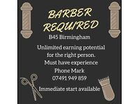 BARBERS REQUIRED FOR BUSY BARBER SHOPS B45 & B31 BIRMINGHAM