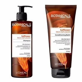 Botanicals Safflower Rich infusion shampoo and conditioner