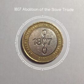 1807 Abolition of the Slave Trade £2 coin