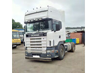Left hand drive Scania R124L 400 TOPLINE 50 Ton tractor unit. MOT. Low miles.
