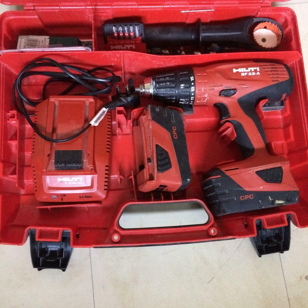 hilti sfh 22a 22v and 2 battery excellent condition in. Black Bedroom Furniture Sets. Home Design Ideas