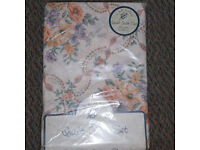 single duvet covet set, cover and one pillow case, floral pattern still in packing
